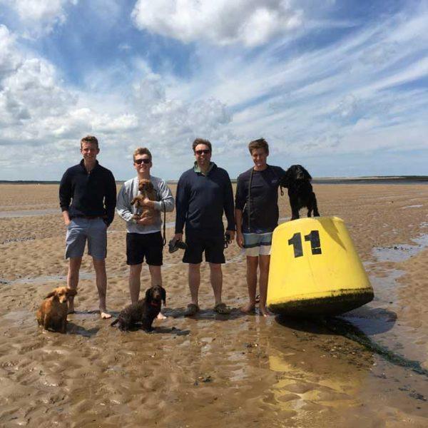 Team Jones, Harbour Marker At Blakeney