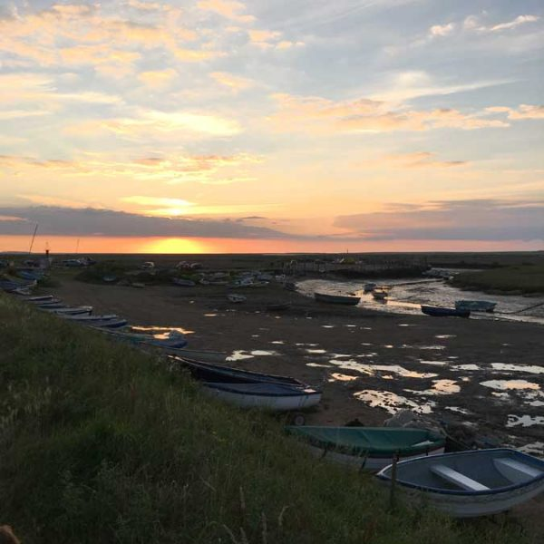 Tide Out At Morston Harbour